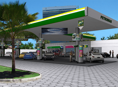 foto de posto de gasolina