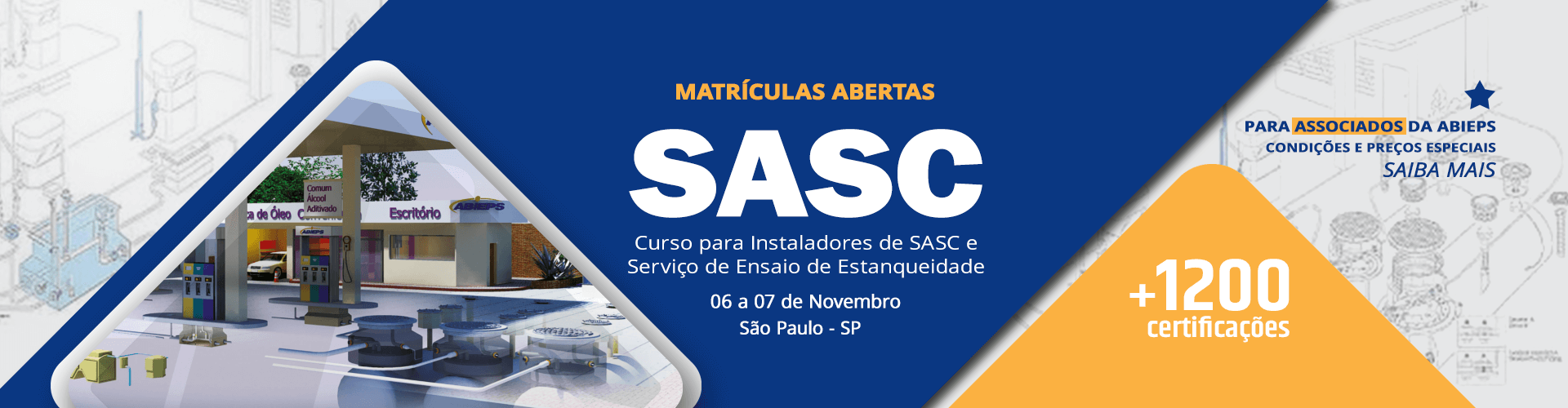 Curso para Instaladores de SASC e Serviço de Ensaio de Estanqueidade